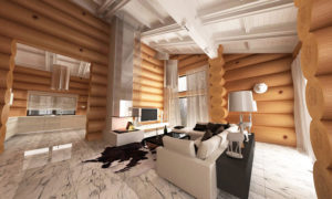 Варианты дизайна деревянных домов из бревен