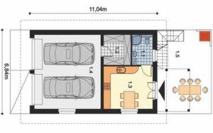Проект гаража на 2 машины: особенности планировки