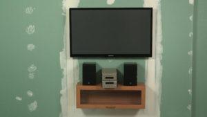 Как повесить телевизор на стену из гипсокартона?