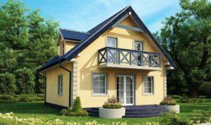Проект дома размером 8x10 м с мансардой: красивые идеи для строительства