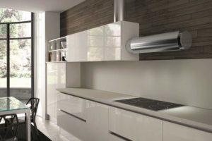Чёрная вытяжка в дизайне интерьера кухни