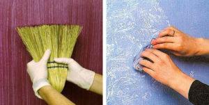 Покраска декоративной штукатурки: способы нанесения