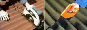 Как распилить и правильно уложить шифер?