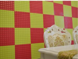Самоклеящаяся мозаика в оформлении стен