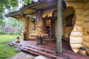 Красивые проекты бань из бревна