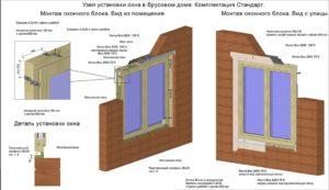 Окна в брусовом доме: правила выбора и технология монтажа