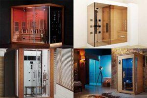 Душевые кабины с сауной: выбор и характеристики
