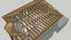 Стропильная система шатровых крыш