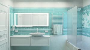 Бирюзовая плитка для ванной: стильные решения для вашего интерьера