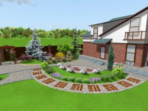 Как спроектировать ландшафтный дизайн участка площадью 6 соток?