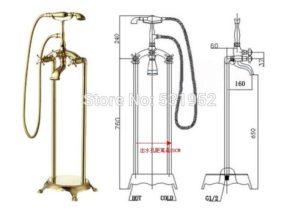 Напольные смесители для ванны: виды и особенности установки