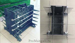 Вертикальный мангал: отличия и особенности конструкции