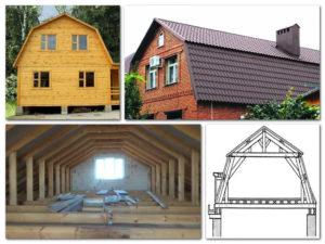 Ломаная крыша: возможности и устройство необычной конструкции