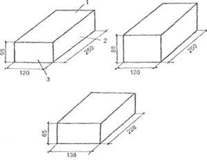 Размеры и вес стандартного полуторного силикатного кирпича