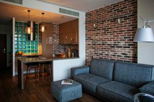 Декоративный кирпич в интерьере квартиры: красивые варианты оформления