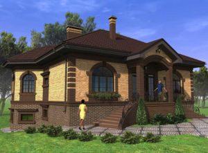Одноэтажные кирпичные дома: красивые проекты - Postroikado