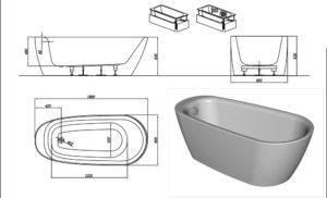 Все о размерах акриловых ванн