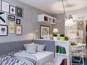 Дизайн квартиры-студии 25 кв. м