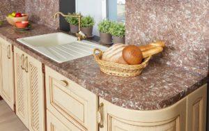 Особенности кухонных столешниц из искусственного камня