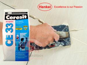 Затирка для плитки Ceresit: виды и особенности применения