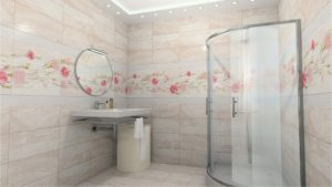Пластиковые панели с 3D-рисунком в интерьере ванной