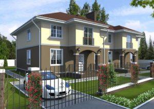 Дом на две семьи с двумя отдельными входами: примеры проектов