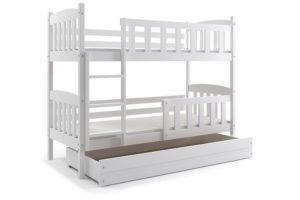 Двухъярусные кровати с бортиками: разнообразие форм и конструкций для детей