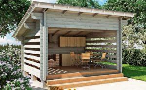 Очень простая конструкция летней кухни своими руками