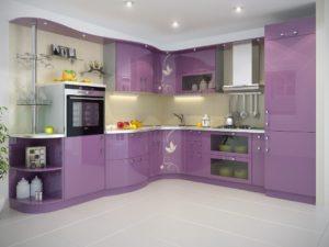 Цветовая гамма угловых кухонь