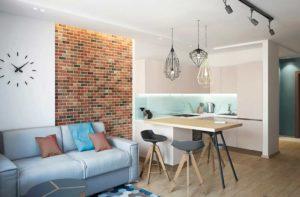 Дизайн квартиры-студии 21-22 кв. м.