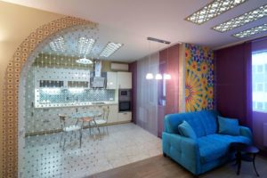 Особенности и идеи для разделения кухни и гостиной