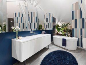 Синяя плитка: стильные решения для интерьера