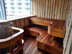 Сауна на балконе: виды и особенности обустройства