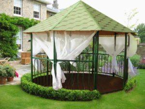 Беседки-домики: разновидности садовых беседок