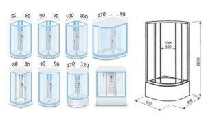 Прямоугольные душевые кабины: разновидности и размеры