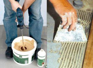 Как выбрать двухкомпонентный клей для плитки?
