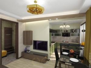 Дизайн гостиной, совмещенной с кухней. Фото 2016–2017 | 225x300