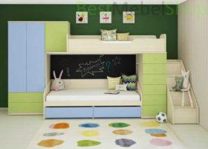 Двухъярусная кровать со шкафом: модели, дизайн и советы по выбору