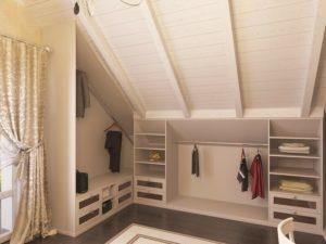 Шкафы на мансарду под крышу