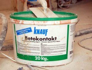 Грунтовка Knauf Betokontakt: характеристики и преимущества применения