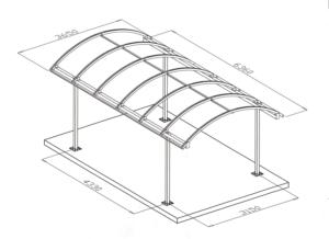 Беседка из профильной трубы своими руками: чертежи конструкций
