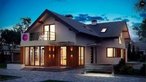 Двухэтажный дом с мансардой: красивые проекты