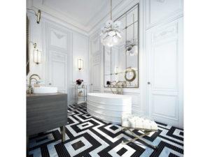Белая плитка: классика в интерьере
