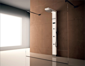 Разновидности душевых панелей с гидромассажем и тропическим душем