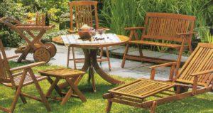 Садовая мебель из дерева: плюсы и минусы