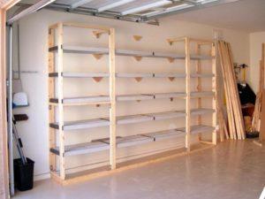 Изготовление полок и стеллажей для гаража своими руками