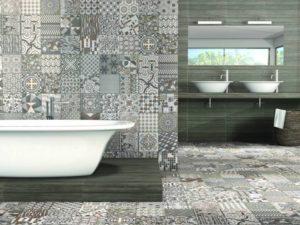 Керамическая плитка с орнаментом в дизайне интерьера