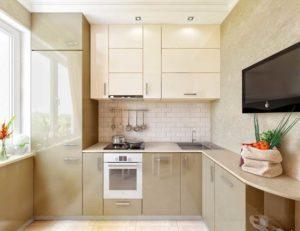 Проектирование и варианты дизайна кухни размером 6 кв. м в хрущевке