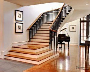 Методики изготовления и установки современных прямых лестниц внутри коттеджа