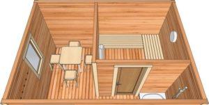 Баня размером 3 на 4: внутренняя планировка